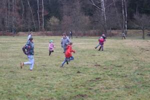 Geländespiel auf dem Winterlager